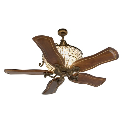 Craftmade Lighting Craftmade Lighting Cortana Peruvian Bronze Ceiling Fan with Light K11142