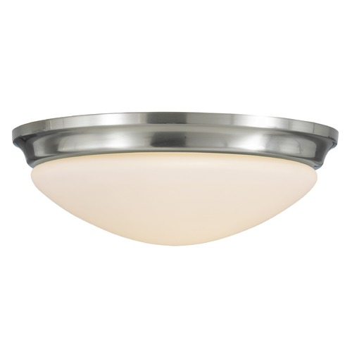 Feiss Lighting Feiss Lighting Barrington Brushed Steel LED Flushmount Light FM272BS-LED