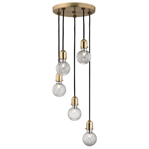 Hudson Valley Lighting Marlow 5 Light Multi-Light Pendant - Aged Brass 1105-AGB