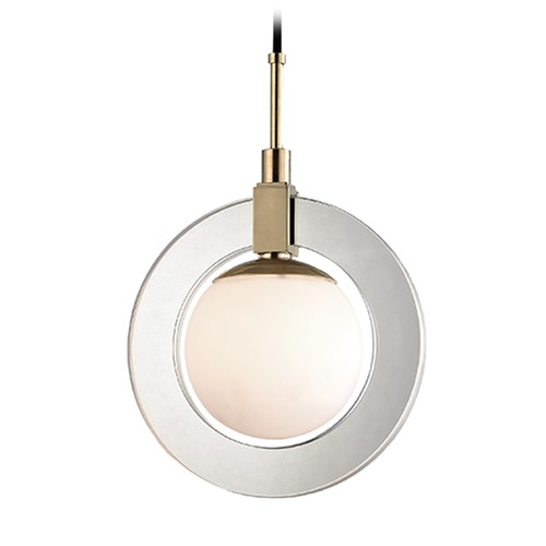 Hudson Valley Lighting Hudson Valley Lighting Caswell Aged Brass LED Pendant Light with Globe Shade 5112-AGB