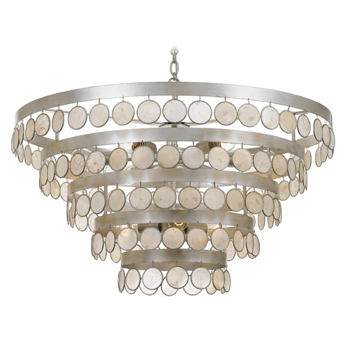 Crystorama Lighting Crystorama Lighting Coco Antique Silver Pendant Light 6009-SA