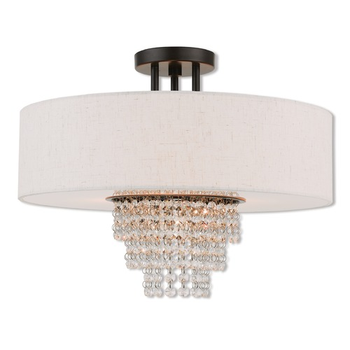 Livex Lighting Livex Lighting Carlisle English Bronze Semi-Flushmount Light 51097-92