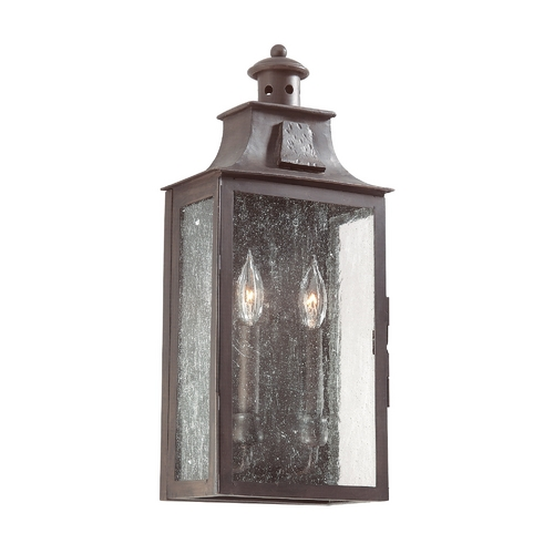 Troy Lighting Outdoor Wall Light with Clear Glass in Old Bronze Finish BCD9008OBZ