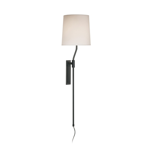 Sonneman Lighting Modern Pin-Up Lamp with White Shade in Black Brass Finish 7009.51