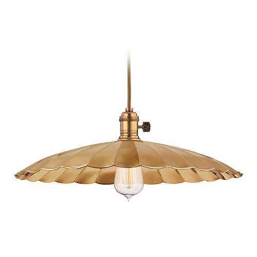 Hudson Valley Lighting Pendant Light in Aged Brass Finish 8002-AGB-ML3