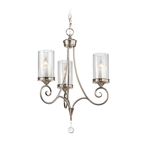 Kichler Lighting Kichler Mini-Chandelier with Clear Glass in Classic Pewter Finish 42860CLP
