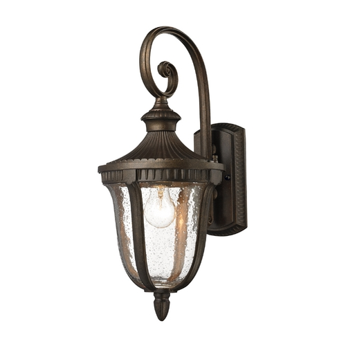 Elk Lighting Outdoor Wall Light with White Glass in Hazelnut Bronze Finish 27000/1