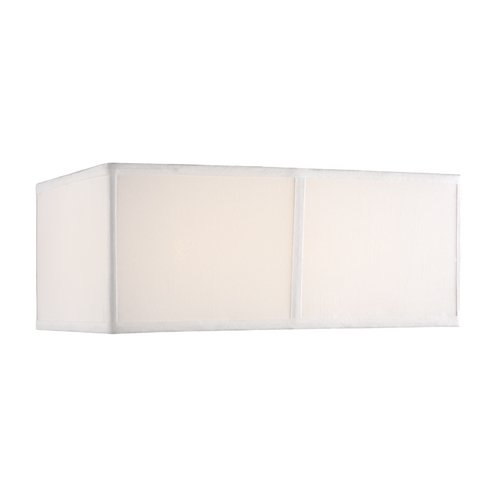 Design Classics Lighting Medium White Silk Rectangular Shade DCL SH7370