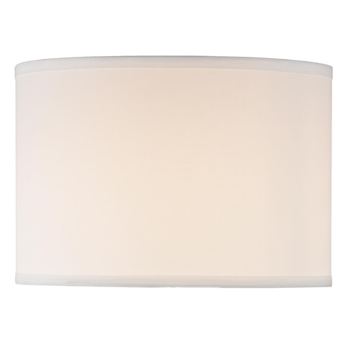 Design Classics Lighting White Linen Drum Shade - 9.5-Inches Tall SH7805