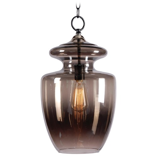 Kenroy Home Lighting Kenroy Home Lighting Apothecary Graphite Pendant Light with Urn Shade 93037GR