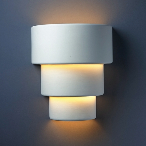 Justice Design Group Sconce Wall Light in Bisque Finish CER-2235-BIS