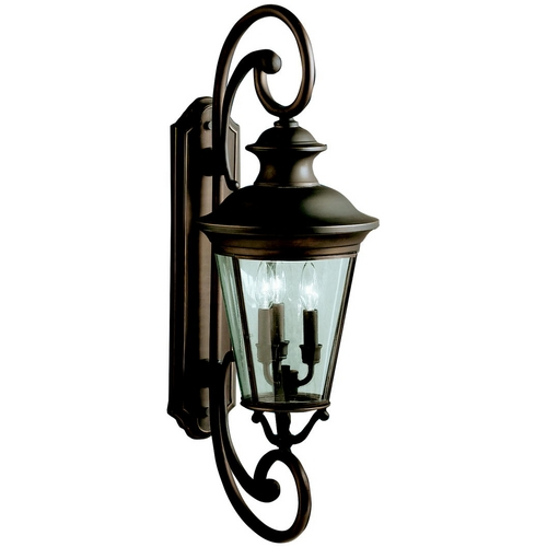 Kichler Lighting Kichler Outdoor Wall Light with Clear Glass in Olde Bronze Finish 9348OZ