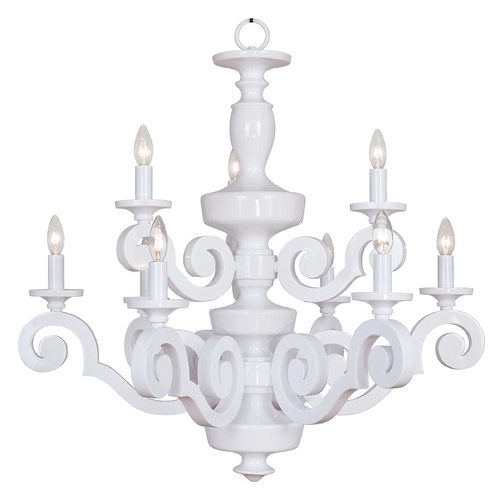 Jeremiah Lighting Jeremiah Lighting Atelier Gloss White Chandelier 36929-GW