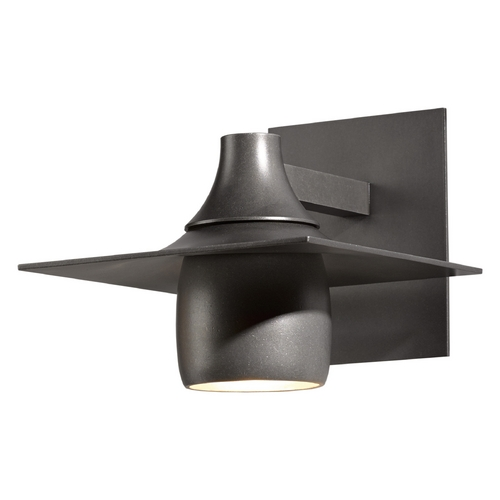 Hubbardton Forge Lighting Hubbardton Forge Lighting Hood Burnished Steel Outdoor Wall Light 306563-08-CTO