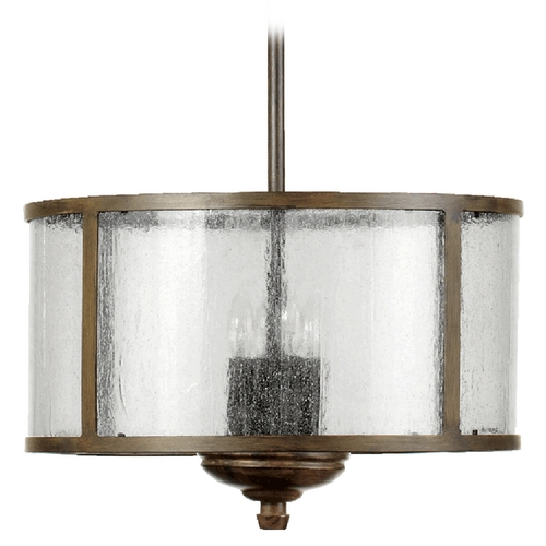 Quorum Lighting Quorum Lighting Telluride Early American Pendant Light with Drum Shade 2866-18-21