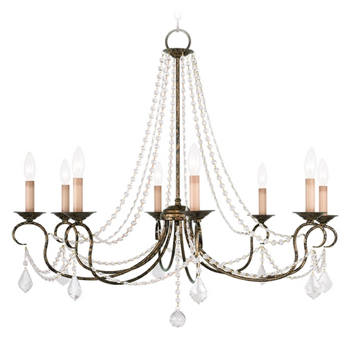 Livex Lighting Livex Lighting Pennington Venetian Golden Bronze Crystal Chandelier 6518-71