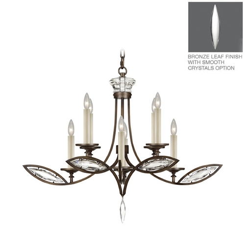 Fine Art Lamps Fine Art Lamps Marquise Antique Hand Rubbed Bronze Crystal Chandelier 843640-31ST