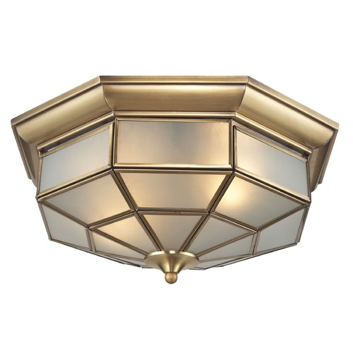 Elk Lighting Elk Lighting Linoka Brushed Brass Flushmount Light 22016/2