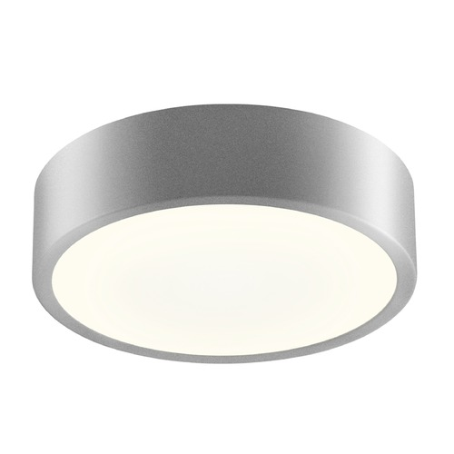 Sonneman Lighting Sonneman Pi Bright Satin Aluminum LED Flushmount Light with Drum Shade 2745.16