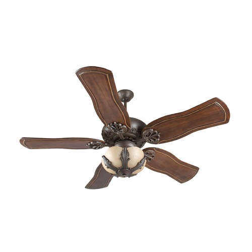 Craftmade Lighting Craftmade Lighting Cordova Aged Bronze Textured Ceiling Fan with Light K11143