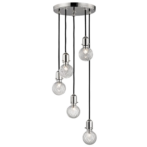 Hudson Valley Lighting Marlow 5 Light Multi-Light Pendant - Polished Nickel 1105-PN