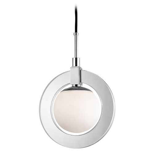 Hudson Valley Lighting Hudson Valley Lighting Caswell Polished Nickel LED Pendant Light with Globe Shade 5112-PN