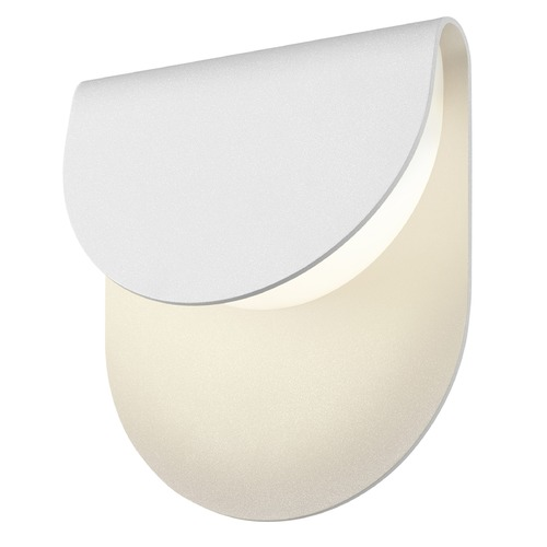 Sonneman Lighting Sonneman Cape Textured White LED Outdoor Wall Light 7232.98-WL