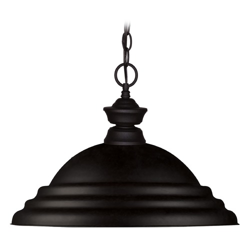 Z-Lite Z-Lite Pendant Lights Matte Black Pendant Light with Bowl / Dome Shade 100701MB-SMB