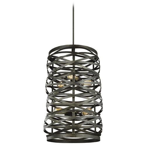 Sea Gull Lighting Sea Gull Lighting Cowen Obsidian Mist LED Pendant Light with Cylindrical Shade 5128606EN7-802