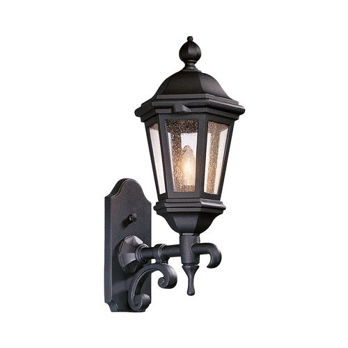 Troy Lighting Outdoor Wall Light with Clear Glass in Bronze Patina Finish BCD6830BZP