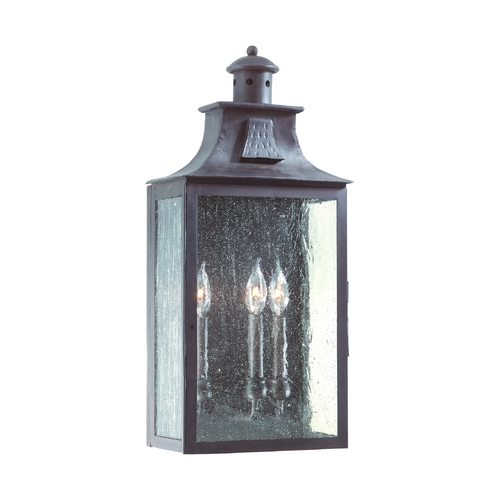 Troy Lighting Seeded Glass Outdoor Wall Light Bronze Troy Lighting BCD9009OBZ