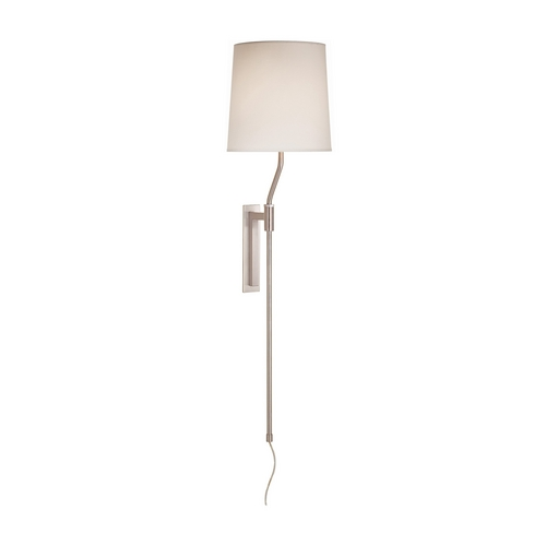 Sonneman Lighting Modern Pin-Up Lamp with White Shade in Satin Nickel Finish 7009.13