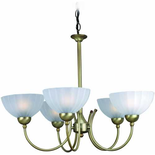 Lite Source Lighting Lite Source Lighting Alani Bronze Chandelier LS-14155BRZ/FRO