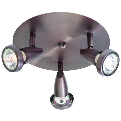 Access Lighting Modern Directional Spot Light with White Glass in Bronze Finish 52221-BRZ