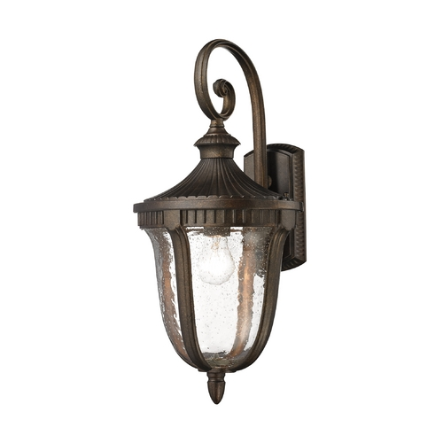Elk Lighting Outdoor Wall Light with White Glass in Hazelnut Bronze Finish 27001/1