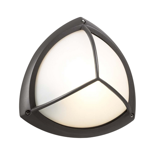 PLC Lighting Modern Outdoor Wall Light with White Glass in Bronze Finish 1846 BZ