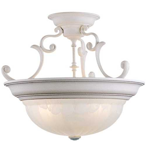 Dolan Designs Lighting Three-Light Semi-Flush Ceiling Light 525-32