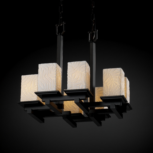 Justice Design Group Justice Design Group Limoges Collection Chandelier POR-8670-15-BMBO-MBLK