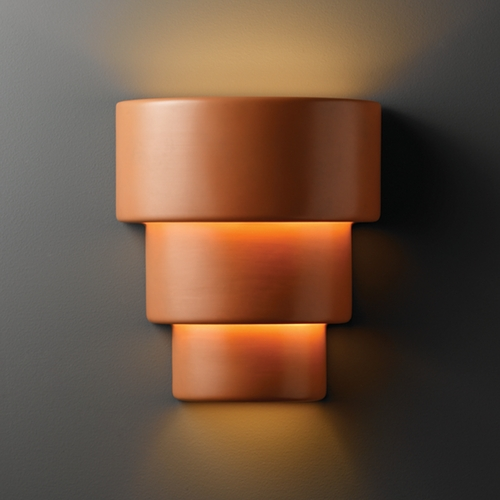 Justice Design Group Sconce Wall Light in Terra Cotta Finish CER-2235-TERA