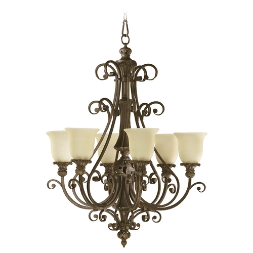 Quorum Lighting Quorum Lighting Fulton Classic Bronze Chandelier 6032-6-54