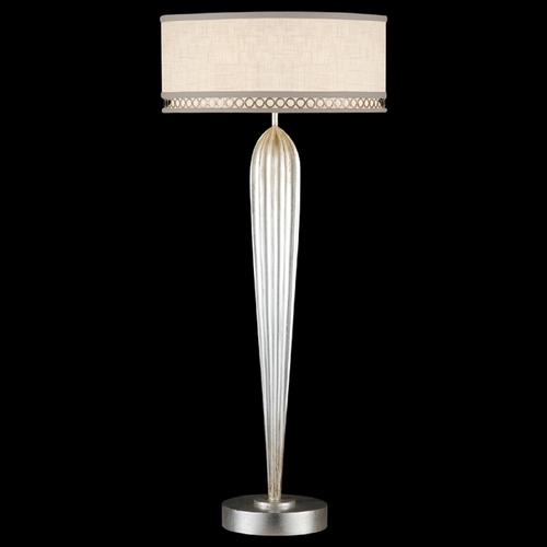 Fine Art Lamps Fine Art Lamps Allegretto Silver Platinized Silver Leaf with Subtle Brown Highlights Table Lamp with 792915ST