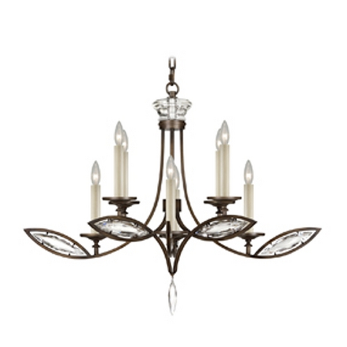Fine Art Lamps Fine Art Lamps Marquise Antique Hand Rubbed Bronze Crystal Chandelier 843640-32ST