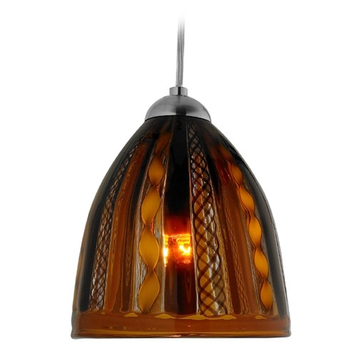 Oggetti Lighting Oggetti Elan Dark Bronze Mini-Pendant Light with Bowl / Dome Shade 79-L0628T
