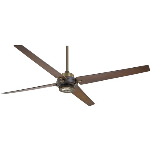 Minka Aire 60-Inch Minka Aire Spectre Oil Rubbed Bronze with Antique Brass LED Ceiling Fan with Light F726-ORB/AB