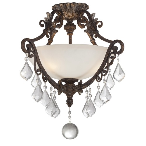 Savoy House Savoy House Lighting Elizabeth New Tortoise Shell W/silver Semi-Flushmount Light 6P-1560-3-8