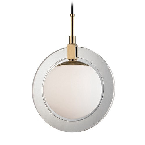 Hudson Valley Lighting Hudson Valley Lighting Caswell Aged Brass LED Pendant Light with Globe Shade 5116-AGB