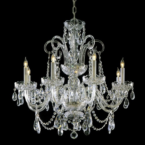 Crystorama Lighting Crystorama Lighting Hot Deal Polished Brass Crystal Chandelier 5006-PB-CL-SAQ