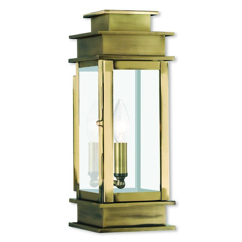 Livex Lighting Livex Lighting Princeton Antique Brass Outdoor Wall Light 2013-01