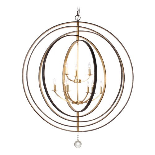 Crystorama Lighting Crystorama Lighting Luna English Bronze, Antique Gold Pendant Light 587-EB-GA