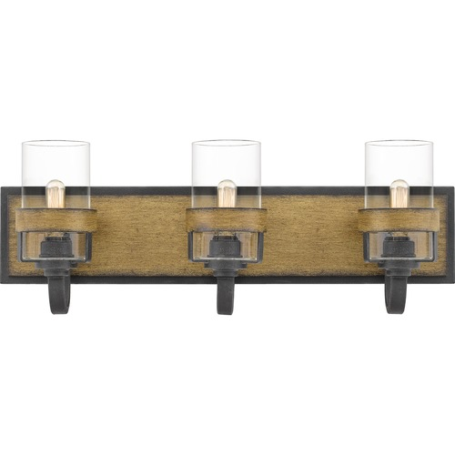 Quoizel Lighting Quoizel Lighting Finch Aged Walnut with Grey Ash Bathroom Light FIN8624AWN